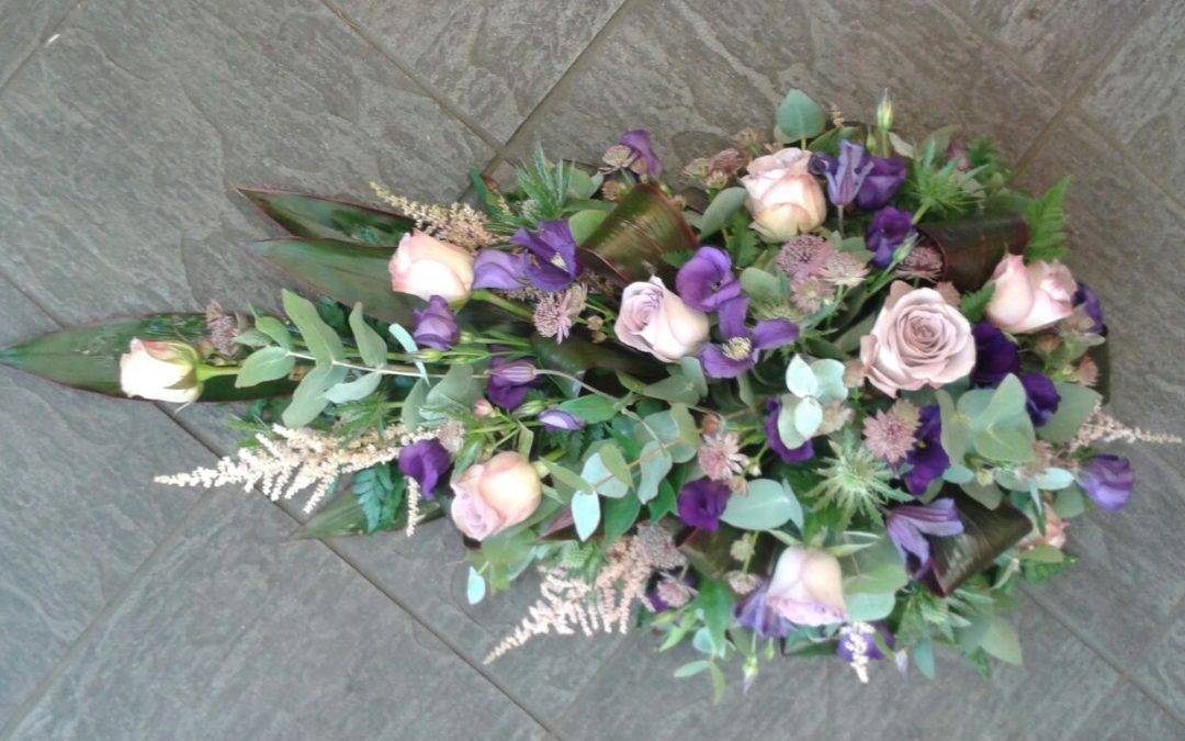Funeral flowers, vintage style