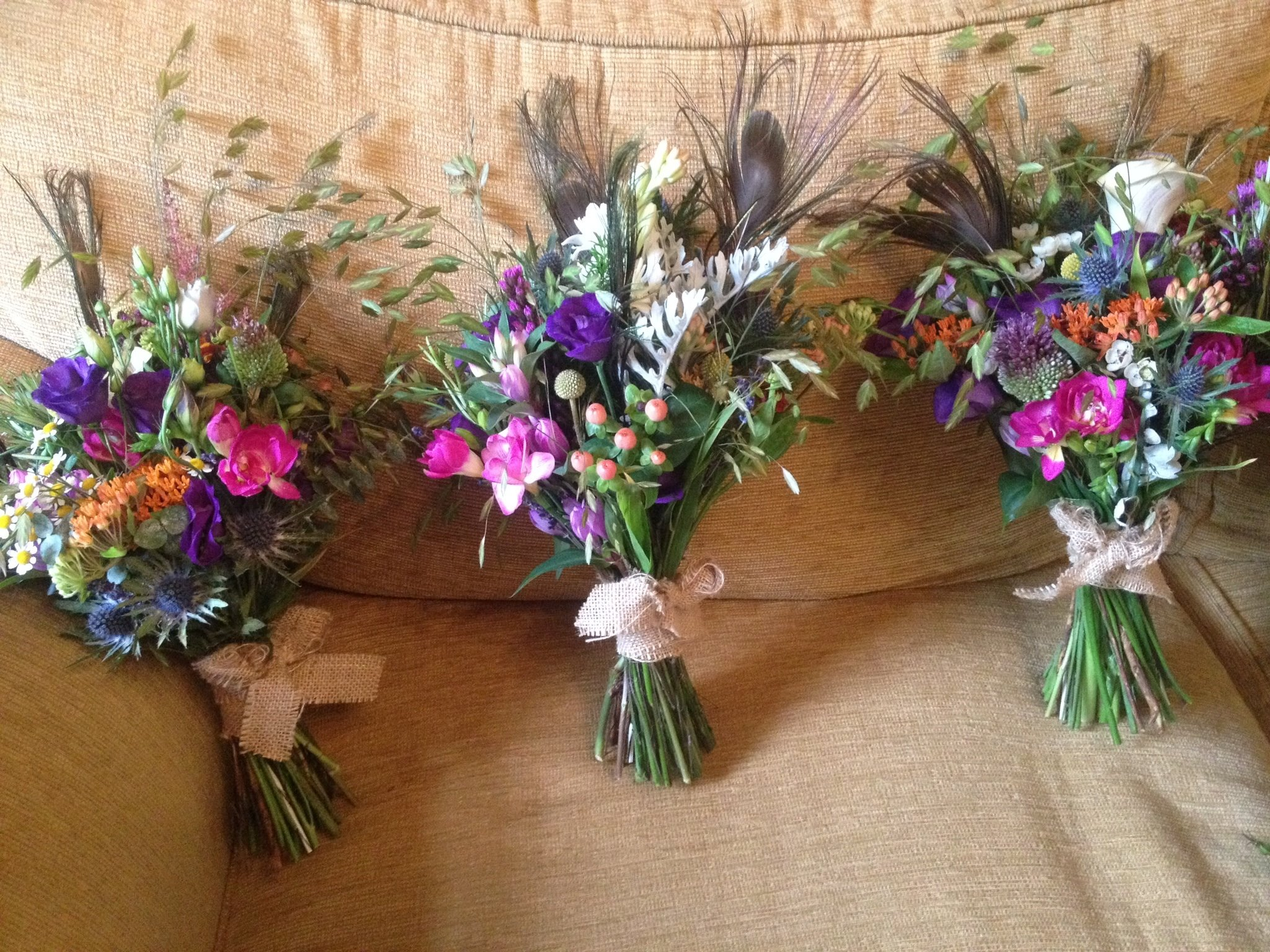 Meadow style wedding flowers at Clearwell Castle | Tilly Tomlinson ...
